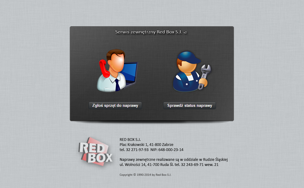 Serwis zewnętrzny Red Box PC